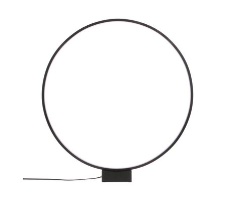 HK-living Table lamp light circle black aluminum Ø60x65cm
