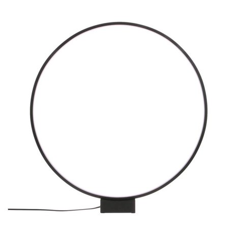 HK-living Lámpara de mesa círculo de luz negro aluminio Ø60x65cm