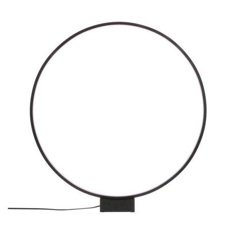 HK-living Tischleuchte Leuchtkreis schwarz Aluminium Ø60x65cm