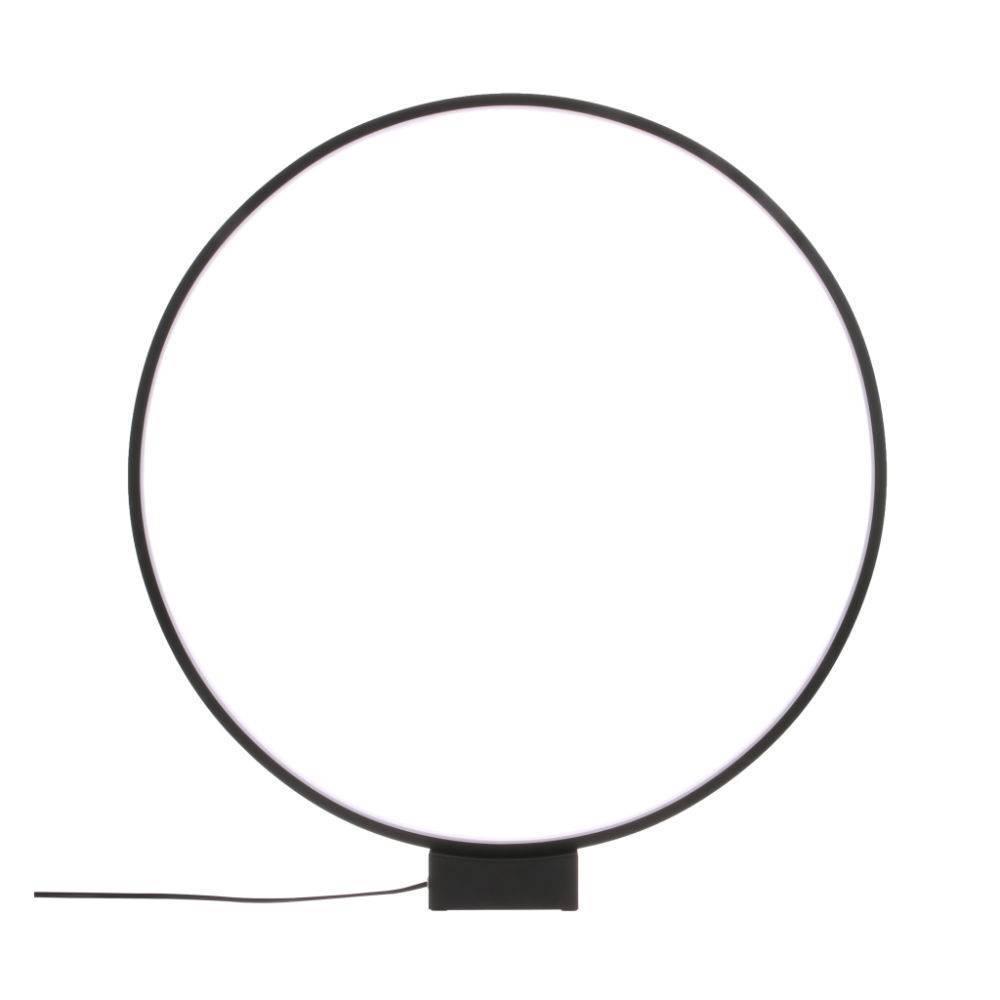 Hk Living Lampada Da Tavolo Cerchio Luce In Alluminio Nero O60x65cm Lefliving Com