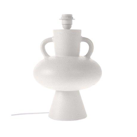 HK-living Base in ceramica bianca L Ø24x38cm