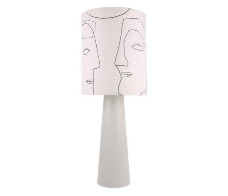 HK-living Lampenschirm Faces natürliche Baumwolle Ø36x42cm