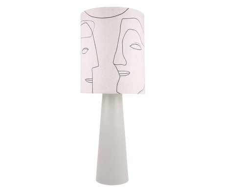 HK-living Lampeskærm Faces naturlig bomuld Ø36x42cm