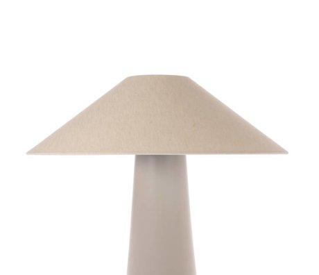 HK-living Lampeshade trekant elfenben jute L Ø55x16,5cm