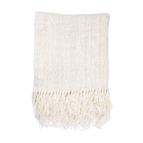 HK-living Ternet hvidt linned 130x170cm