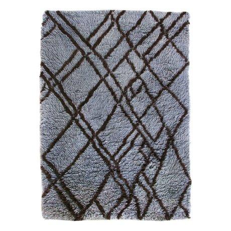HK-living Alfombra bereber azul gris lana 180x280cm
