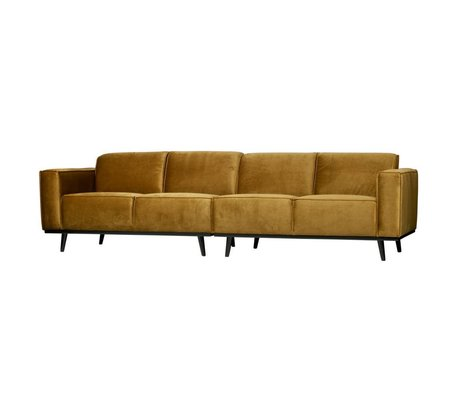 BePureHome Statement 4-seater 280 cm velvet honey yellow