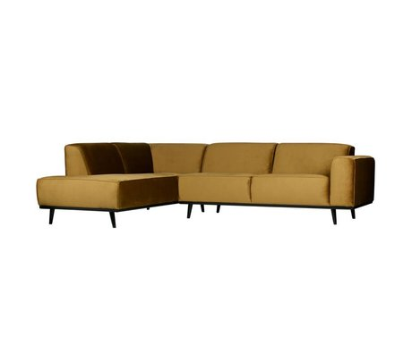 BePureHome Statement corner couch left velvet honing yellow