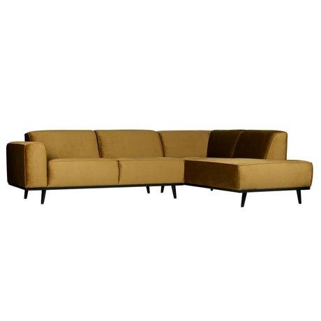 BePureHome Vendo divano angolare giallo velluto miele 274x210x77cm