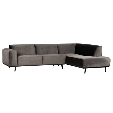 BePureHome Statement corner couch right velvet taupe