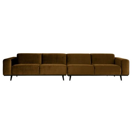 BePureHome Statement xl 4-seater 372 cm velvet honiggelb