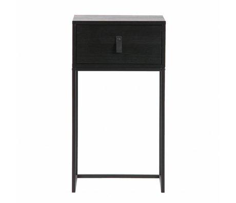 LEF collections Zola comodino con cassetto nero