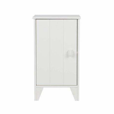 LEF collections Comodino Nikki junior pino bianco 37x35x63,5cm