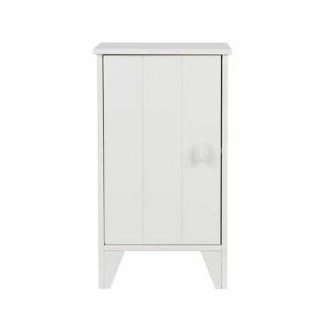 LEF collections Table de chevet Nikki junior pin blanc 37x35x63,5cm