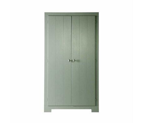 LEF collections Schrank Nikki Jade grün Kiefer 110x56x201cm