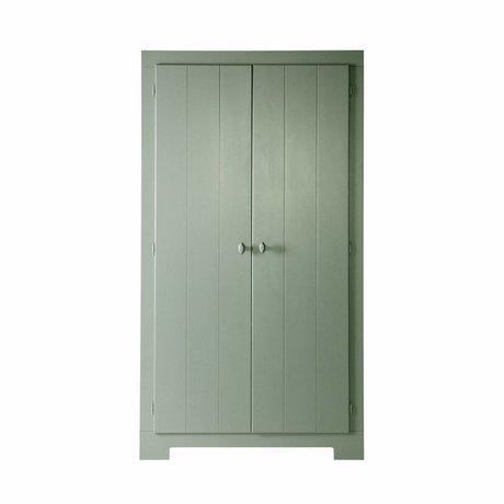 LEF collections Skab Nikki Jade grønne fyr 110x56x201cm