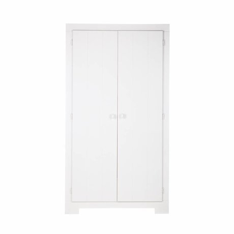 LEF collections Cabinet Nikki pin blanc 110x56x201cm
