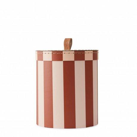 OYOY Aufbewahrungsbox kleiner rosa Auberginenkarton Ø17x20cm