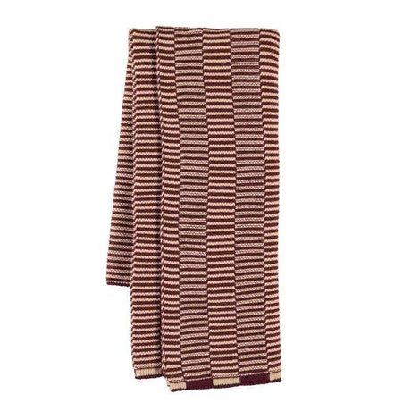 OYOY Te håndklæde Stringa aubergine pink bomuld 38x58cm