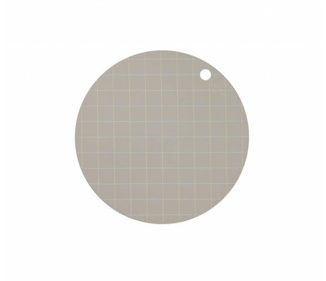 OYOY Placemat Hokei grigio silicone Ø39x0,15cm set di 2