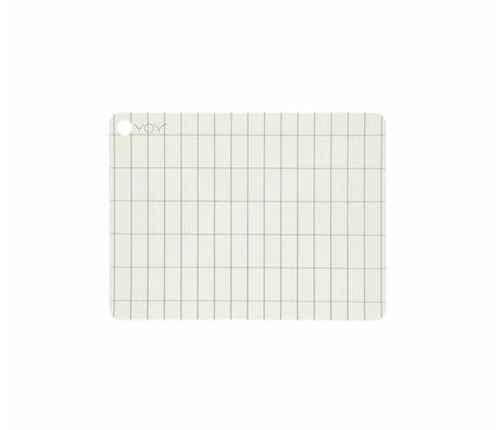 OYOY Tischset Kukei aus weißem Silikon 45x34x0,15cm 2er-Set