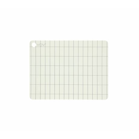 OYOY Placemat Kukei made of white silicone 45x34x0,15cm set of 2