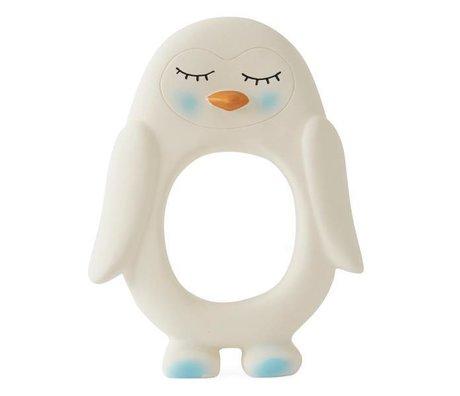 OYOY Bide legetøj pingvin hvid naturgummi 10x2,5x13cm