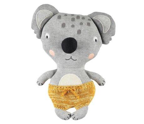 OYOY Peluche Baby Koala Anton multicolore in cotone 26x20cm