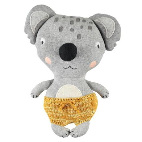 OYOY Peluche Baby Koala Anton en coton multicolore 26x20cm