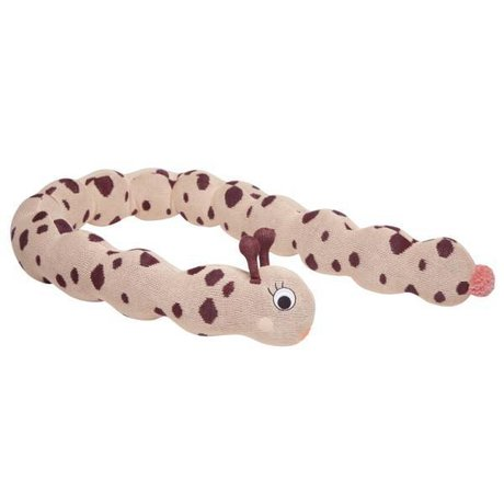 OYOY Frækt legetøj Frøken Lala larva pink aubergine bomuld 16x140x18cm