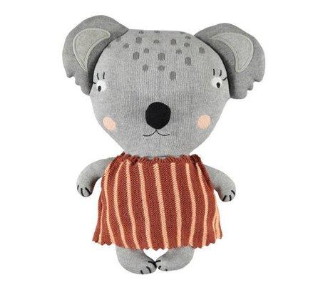 OYOY Peluche Mami Koala en coton gris 38x28x12cm