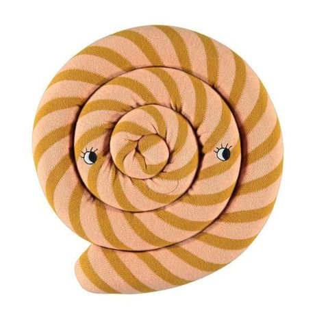 OYOY Coussin Lollipop caramel brun ø30cm