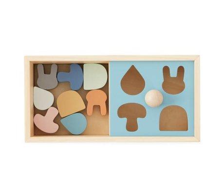 OYOY Puzzelbox multicolore avec pièce jointe 24x12x12x12cm