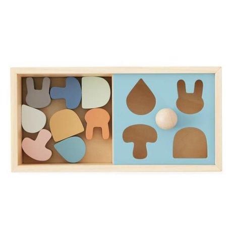 OYOY Puzzelbox flerfarvet med vedhæftet fil 24x12x12x12cm