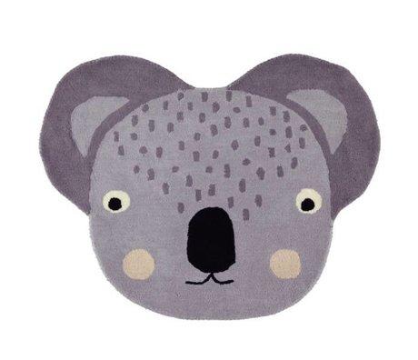 OYOY Teppich Koala grau Baumwolle 100x85cm