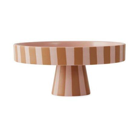 OYOY Bakke Toppu lyserød karamel keramik 9x20cm