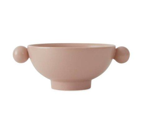 OYOY Bowl Inka pink ceramic 18x14,5x7cm