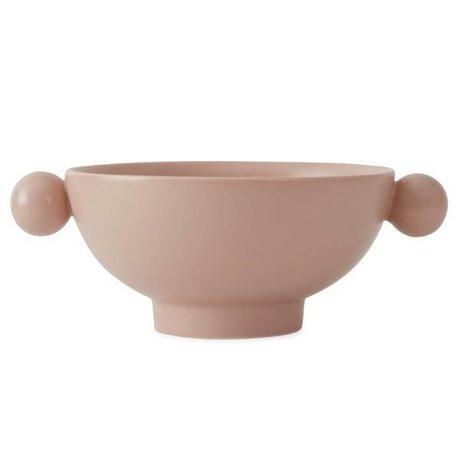 OYOY Scodella Inka in ceramica rosa 18x14,5x7cm
