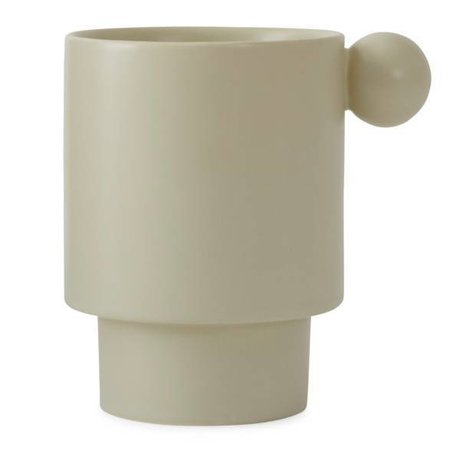 OYOY Mug Inka en céramique blanc crème 7,5x10x10x10,5cm