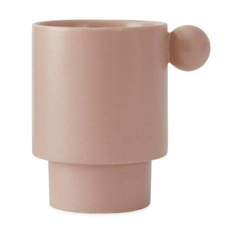 OYOY Coppa in ceramica rosa Inka 7,5x10x10x10,5cm