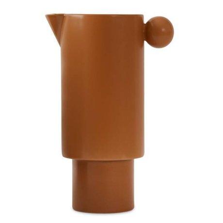 OYOY Dose Inka karamellbraun aus Keramik 14x22cm