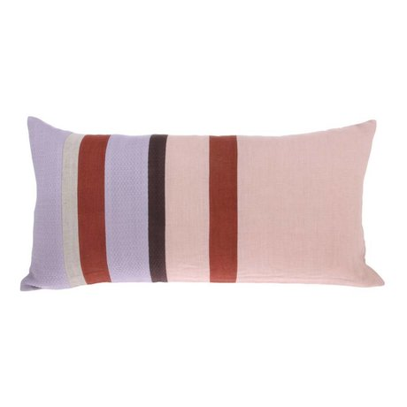 HK-living Cushion Striped C multicolored linen 70x35cm