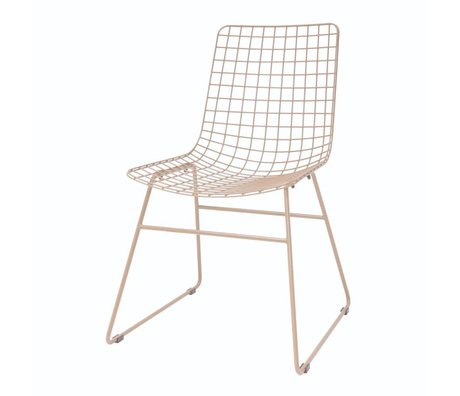 HK-living Dining chair Wire nude pink metal 47x54x86cm