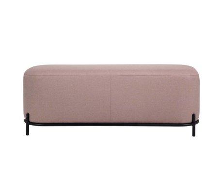 HK-living Pouf vieux textile rose acier 120x40x45cm