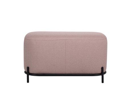 HK-living Taburete antiguo rosa textil acero 80x40x45cm