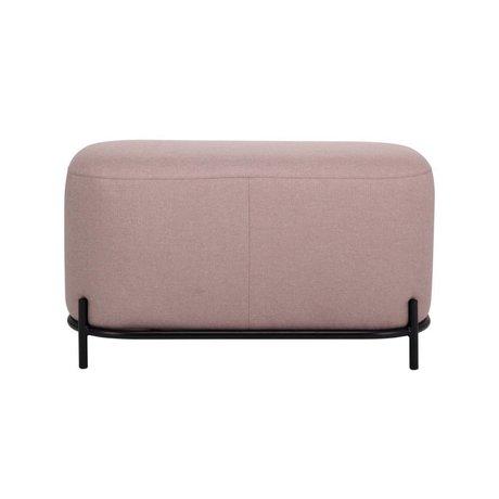 HK-living Hocker alter rosa Textilstahl 80x40x45cm