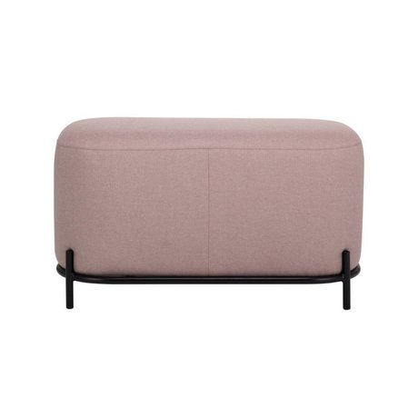 HK-living Stool old pink textile steel 80x40x45cm