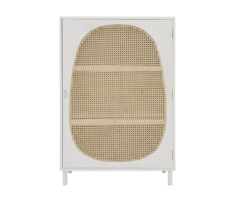 HK-living Cincha de armarios madera blanca 85x35x122cm