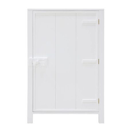 HK-living Wardrobe with a door made of white wood 81x36x122cm