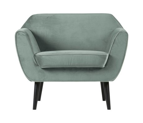 LEF collections Rocco armchair velvet mint green